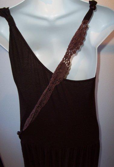 IODICE Brazil Long Knit Jersey Maxi Flowy Crochet Dress