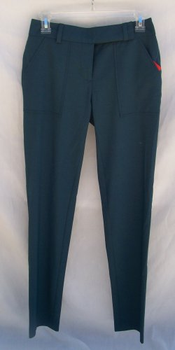 TRINA TURK Classic Teal Suit Slacks Trousers Pants