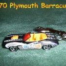 1970 PLYMOUTH BARRACUBA CAR  KEYCHAIN & SWIVEL CLIP (FREE SHIPPING)