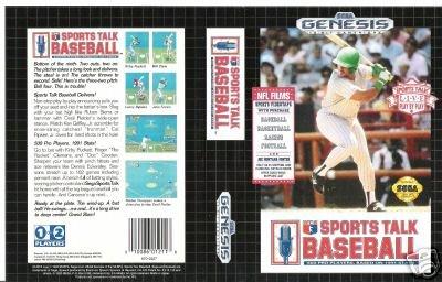 Sports Talk Baseball Sega Genesis Game (FREE SHIPPING)