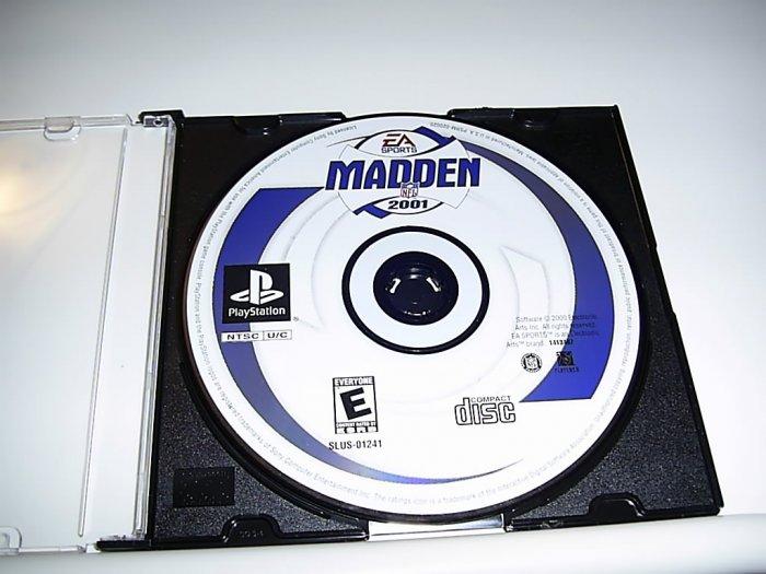 Madden 2001 (Playstation Game) FREE SHIPPING