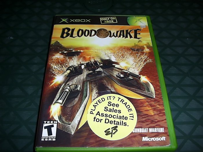 BLOOD WAKE *Complete* for XBOX FREE SHIPPING