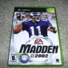 Madden 2002 For Xbox FREE SHIPPING