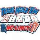 Texas Holdem Poker T Shirt Tee Sizes Medium, Large, XL, 2XL Style#2