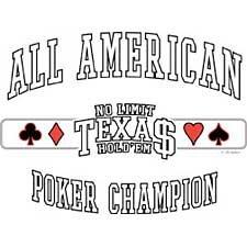 Texas Holdem Poker T Shirt Tee Sizes Medium, Large, Xl, 2xl Style#6