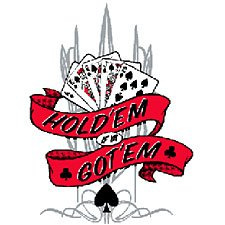 Hold'em if Ya Got'em Texas Holdem Poker T Shirt Tee Sizes Medium, Large, Xl, 2xl Style#8