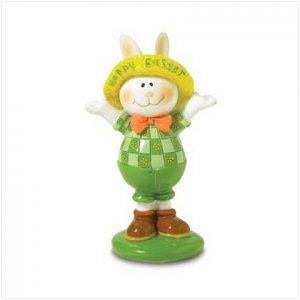 Happy Easter Bunny Figurine
