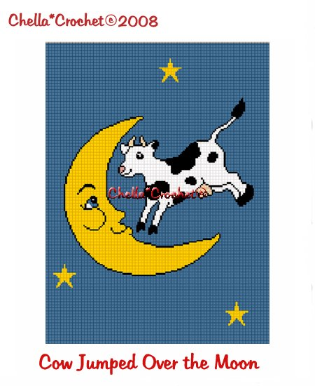 CHELLA*CROCHET The Cow Jumped Over the Moon Afghan Crochet Pattern Graph Emailed to you