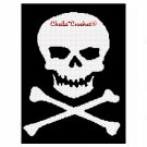 CHELLA*CROCHET Pirate Skull Crossbones Afghan Crochet Pattern Graph Emailed to you