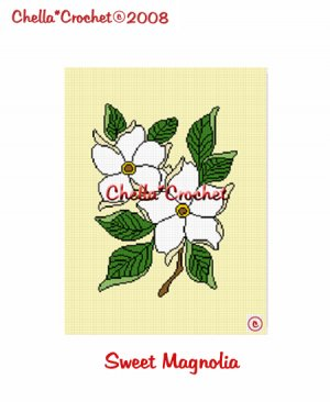 CHELLA*CROCHET Afghan Pattern Graph Crochet Sweet Magnolias Magnolia EMAILED to you