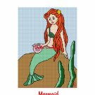 CHELLA*CROCHET Afghan Pattern Graph Crochet Mermaid EMAILED to you