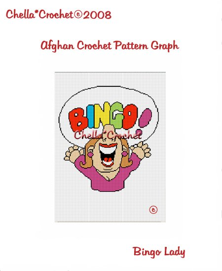 CHELLA*CROCHET Afghan Pattern Graph Crochet Bingo Lady Emailed to you
