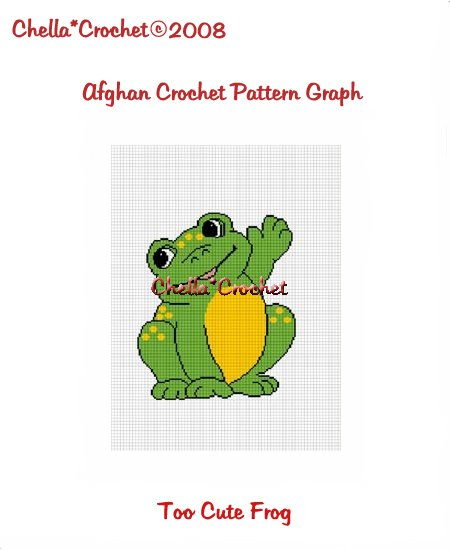 CHELLA*CROCHET Afghan Pattern Graph Crochet Too Cute Frog Emailed to you