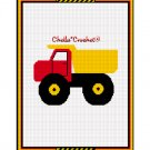 CHELLA CROCHET Toy Dump Truck Afghan Crochet Pattern Graph Emailed