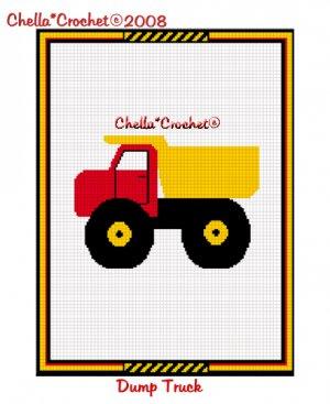 CHELLA CROCHET Toy Dump Truck Afghan Crochet Pattern Graph Emailed