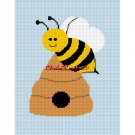 CHELLA*CROCHET  Busy Bumble Bee and Hive Afghan Crochet Pattern Graph .PDF EMAILED