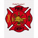 CHELLA CROCHET Firefighter Maltese Cross Gold Accent Afghan Crochet Pattern Graph .PDF EMAILED