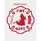 CHELLA CROCHET Firefighter Maltese Cross WHITE SILHOUETTE Afghan Crochet Pattern Graph .PDF EMAILED