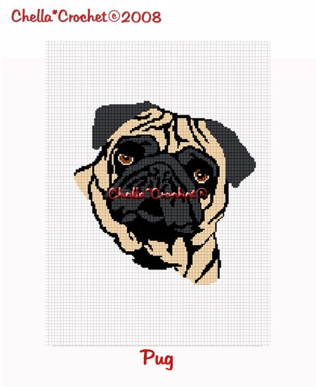 CHELLA*CROCHET Pug Dog Afghan Crochet Pattern Graph .pdf EMAILED