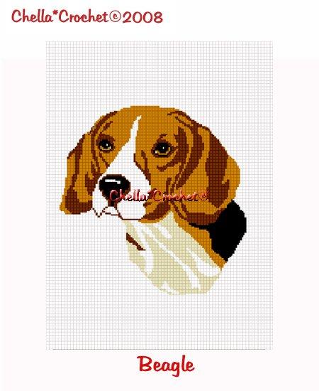 CHELLA*CROCHET Beagle Dog Afghan Crochet Pattern Graph Emailed .PDF