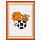 CHELLA*CROCHET Sports Balls Baseball Football Soccer Basketball Afghan Crochet Pattern Graph .PDF