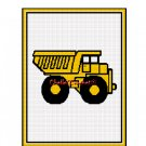 CHELLA*CROCHET Yellow Dump Truck afghan Crochet Pattern Graph EMAILED .PDF