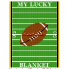 CHELLA*CROCHET MY LUCKY FOOTBALL Field BLANKET Afghan Crochet Pattern Graph EMAILED .PDF