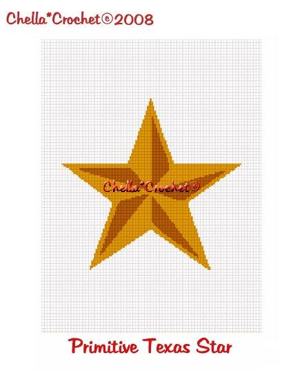 CHELLA*CROCHET Primitive Rustic Texas Star Afghan Crochet Pattern Graph EMAILED .PDF