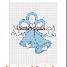 CHELLA*CROCHET Wedding Bells BLUE Doves Afghan Crochet Pattern Graph EMAILED .PDF