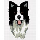 CHELLA*CROCHET Border Collie Dog Afghan Crochet Pattern Graph EMAILED .PDF