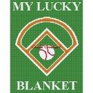 CHELLA*CROCHET My Lucky Baseball Blanket Afghan Crochet Pattern Graph EMAILED .PDF