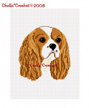 CHELLA*CROCHET Cavalier King Charles Spaniel Dog Afghan Crochet Pattern Graph EMAILED COCKER