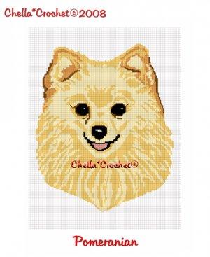 CHELLA*CROCHET Pomeranian Pom Dog Afghan Crochet Pattern Graph EMAILED .PDF