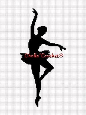 CHELLA*CROCHET Ballerina Silhouette Ballet Afghan Crochet Pattern Graph EMAILED .PDF