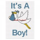 CHELLA*CROCHET It's a Boy Stork Bringing Baby Home Afghan Crochet Pattern Graph EMAILED .PDF