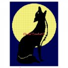 CHELLA*CROCHET Wolf Howling at Moon Afghan Crochet Pattern Graph EMAILED .PDF