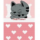 CHELLA*CROCHET Sleeping Kitty Cat Girl Pink Hearts Afghan Crochet Pattern Graph EMAILED .PDF