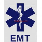 Chella*Crochet Star of Life Cross EMT EMS Afghan Crochet Pattern Graph