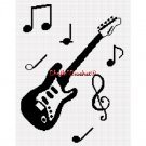 Chella*Crochet Guitar Musical Notes Music Afghan Crochet Pattern Graph