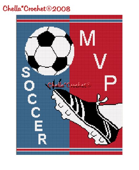 Chella*Crochet Soccer Ball Kick MVP Afghan Crochet Pattern Graph