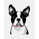 Chella*Crochet Boston Terrier Dog Afghan Crochet Pattern Graph