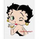 Chella Crochet Betty Boop Kiss and a Wink Afghan Crochet Pattern Graph Emailed