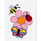 Chella*Crochet Lady bug Bumble Bee Butterfly Flower Afghan Crochet Pattern Graph