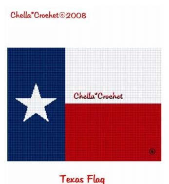Chella*Crochet Texas Lone Star State Flag Afghan Crochet Pattern Graph