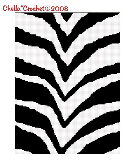 Sale See Shop for Details Chella Crochet Safari Zebra Animal Print Afghan Crochet Pattern Graph