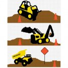 Chella Crochet Construction Area Dump Truck Bulldozer Backhoe Afghan Crochet Pattern Graph