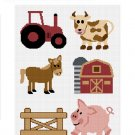 SALE see store!! Chella Crochet Down on the Farm Animals Cow Pig Horse Afghan Crochet Pattern Graph