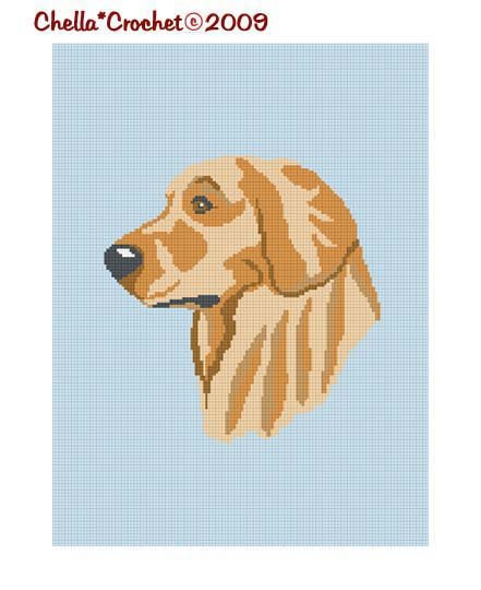 Chella Crochet Afghan Pattern Graph Golden Retriever Dog See Shop for Special