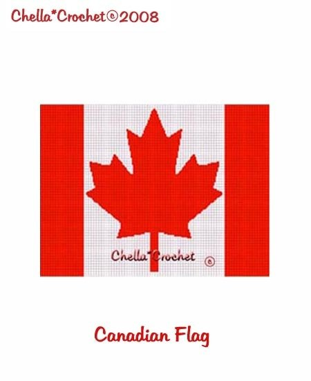 SALE see store!! Chella Crochet Canadian Flag Maple Leaf Afghan Crochet Pattern Graph