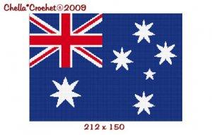 Chella Crochet Australian Australia Flag Afghan Crochet Pattern Graph Emailed